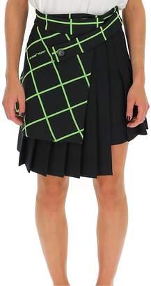 Off-White Off White Multipanel Pleated Mini Skirt