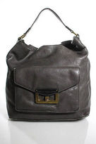 Marc by Marc Jacobs Gray Leather Single Handle Large Hobo Shoulder Handbag