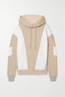 Ninety Percent Color-block Organic Cotton-jersey Hoodie - Beige