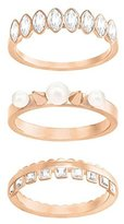 Swarovski Women's Jewellery Set/Gangster Partially Gold-Plated Crystal White Pearl 5284069