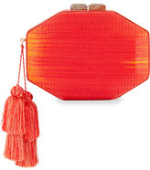 Rafe Sofia Straw Minaudiere, Red/Orange