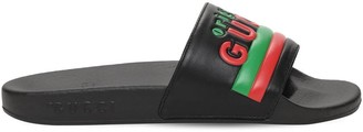 Gucci Embossed Logo Slide Sandals