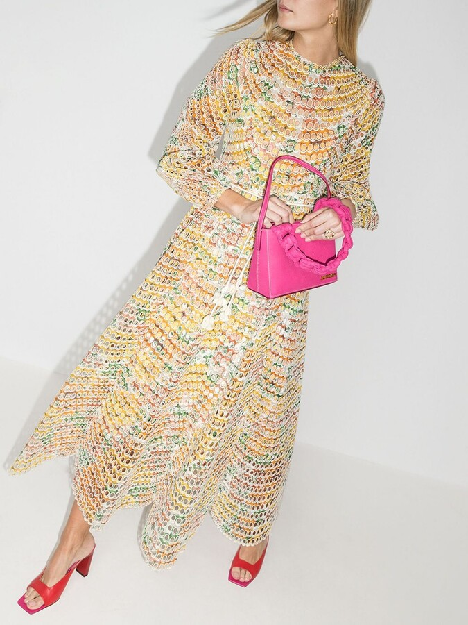 Thumbnail for your product : Zimmermann Yellow Poppy Eyelet Cotton Midi Dress