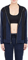 Live the PROCESS Women's Hooded Zip-Front Track Jacket-NAVY