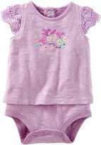 Osh Kosh Oshkosh Short Sleeves Bodysuit -Baby Girls