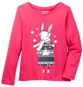 Joe Fresh Printed Long Sleeve Tee (Toddler & Little Girls)