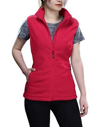 Outdoor Ventures Women's Polar Fleece Zip Vest Outerwear with Pockets