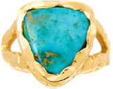 Logan Hollowell - Bisbee Triangle Turquoise Ring