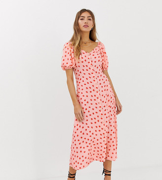 Lily & Lionel Exclusive voluminous midi dress in cosmos-Pink