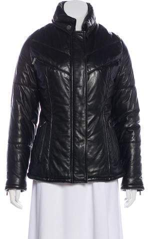 Gucci Leather Puffer Jacket