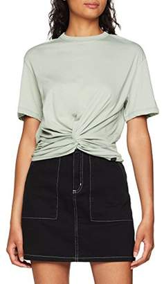 Lee Women's Knotted Tee T-Shirt, Black (Pitch Em)