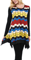 Aster Black & Yellow Dot Handkerchief Tunic - Plus Too