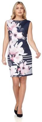 M&Co Roman Originals floral border print scuba dress
