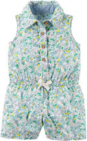 Carter's Sleeveless Floral Romper - Baby Girls newborn-24m