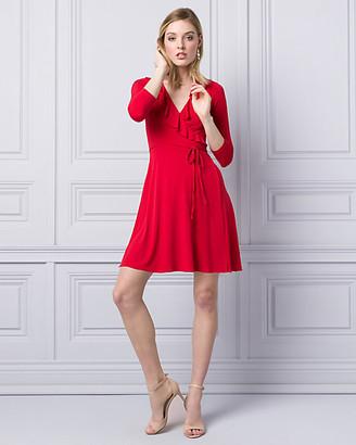 Le Château Knit Wrap-Like Mini Dress
