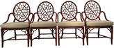 One Kings Lane Vintage McGuire Lattice Back Dining Chairs, S/4
