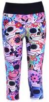 Sister Amy Women's 3D Digital Print Workout Running Capri Pants Crop Leggings XXXXL