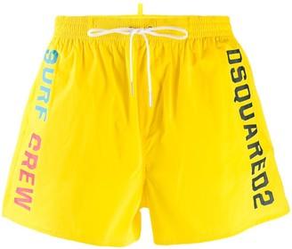 DSQUARED2 Multi-Logo Print Swimming Shorts