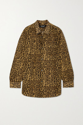 Junya Watanabe Leopard-print Voile Shirt - Leopard print