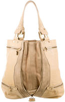 Jimmy Choo Suede & Leather Mona Tote
