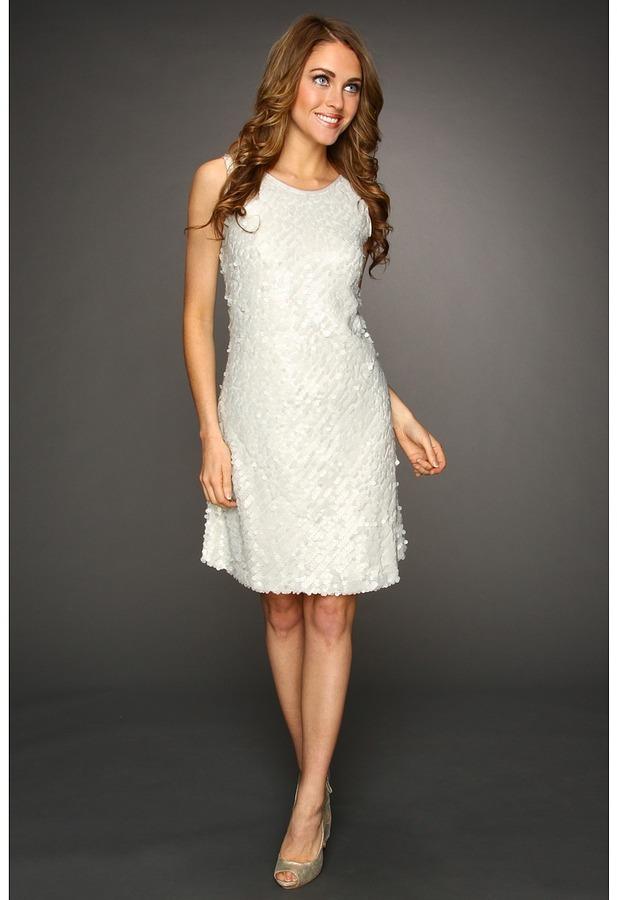 Donna Ricco Cutaway Scoop Bias Short Dress (Haze) - Apparel