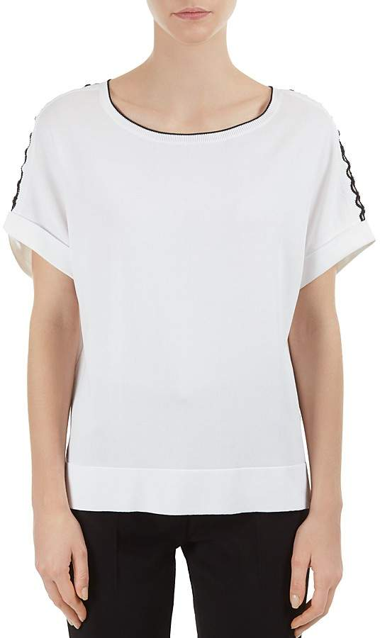 Gerard Darel Felix Eyelet-Sleeve Sweater