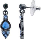 JCPenney 1928 Jewelry Blue Crystal Drop Earrings