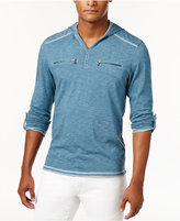 INC International Concepts Men's Heathered Henley Hoodie, Only at Macy's
