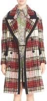 Burberry Tartan Plaid Wool Blend Coat