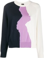 Paul Smith colour-block fitted jumper