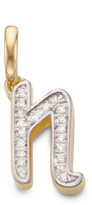 Monica Vinader Diamond Alphabet Pendant N