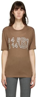 MM6 MAISON MARGIELA Brown Lightweight Logo T-Shirt