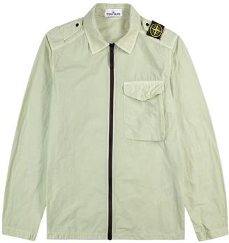 Stone Island Light Green Garment-dyed Shell Overshirt