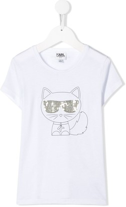 Karl Lagerfeld Paris Choupette print T-shirt