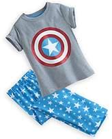 Disney Captain America Pajamas Sleep Set for Girls