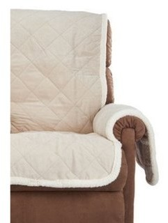 Sure Fit Soft Suede with Sherpa Reversible Recliner Furniture Throw