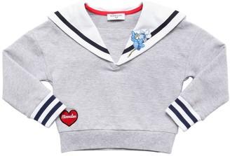 MonnaLisa Sailor Collar Cotton Sweatshirt