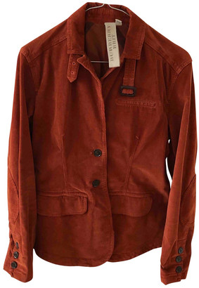 Burberry Orange Cotton Jackets