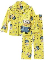 AME Sleepwear Despicable Me Little Boys Paper Plane Minion 2pc Flannel Pajama Set