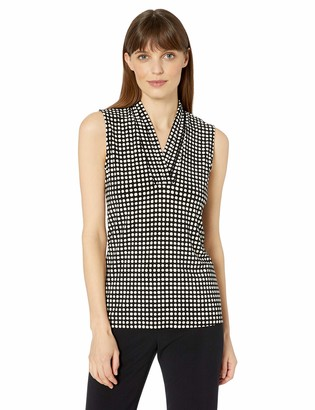 Anne Klein Women's Triple Pleat TOP