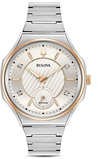 Bulova Curv Diamond Index Watch, 44.5mm