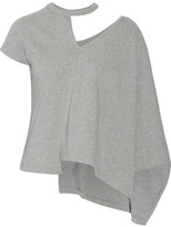 Facetasm Asymmetric Cutout Cotton-jersey T-shirt - Gray