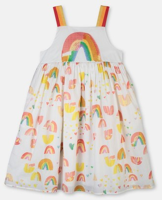Stella McCartney paint rainbow cotton dress