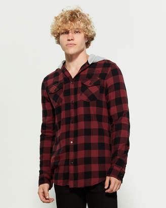 Buffalo David Bitton Samaro Hooded Flannel Shirt