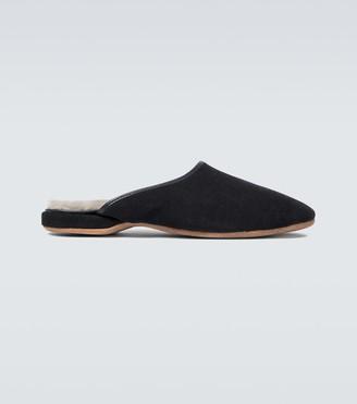 Derek Rose Douglas suede slippers