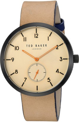 Ted Baker Men's Analog Quartz Watch with Leather Calfskin Strap TE50011005