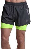 B.BANG Men's Running Launch Racer 2-in-1 Shorts
