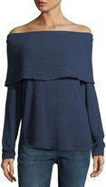 Allen Allen Off-the-Shoulder Fold-Over Top