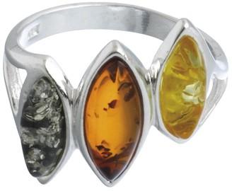 Nature D'ambre Nature d 'Ambre 3111120Women's Ring Silver 925/1000Amber