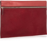 Victoria Beckham Matte-leather and calf hair clutch